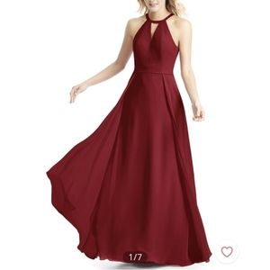 Azazie Melody burgandy bridesmaid dress